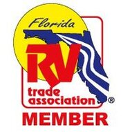 The Florida RV Trade Association logo with text saying